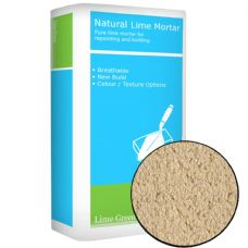 Lime Green  Buff coloured Natural Hydraulic Lime Mortar NHL 3.5 (25kg)